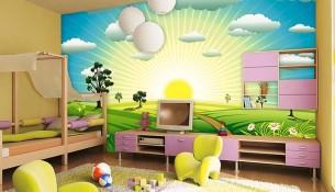 Bebek Odası 3 Boyutlu Duvar Kağıtları 3